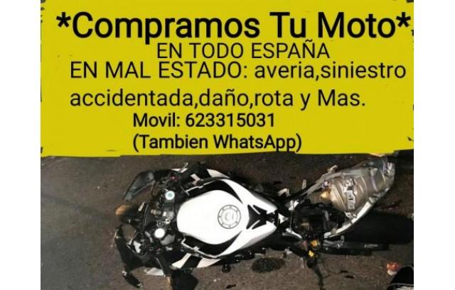 Compro Motos: siniestro, averia, daño, golpe, accidente, averia, rota, choque, fallo y Mas